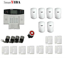 SmartYIBA Spanish Russian Italian French Cezch Voice Prompt Wireless Wired GSM Home Security Burglar Alarms System Siren
