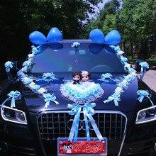 Neue Ankunft! Hochzeit Autos Blume Autos Hochzeit Mittelstücke Decor Autokolonne Simulation Blumen Set mit Bär Braut Blume