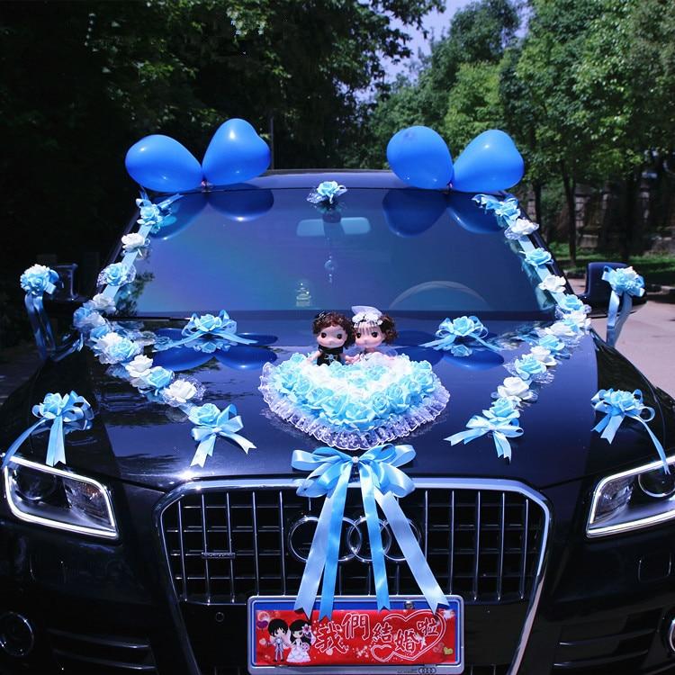 New Arrival  !  Wedding Cars Flower Cars  Wedding Centerpieces  Decor  Motorcade Simulation Flowers Set with Bear  Bridal FlowerParty  DIY Decorations