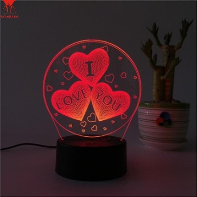 Romantic Love Heart Shape LED 3D Table Night Light Touchu0026Remote Control  Sleep Night Desk Lamp For Amazing Ideas