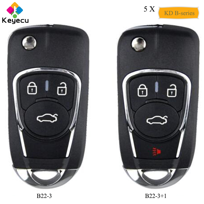 KEYECU 5PCS Universal B Series Remote B22 3 B22 3 1 for KD900 KD900 URG200 KEYDIY