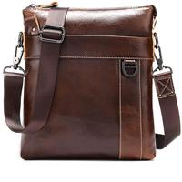 Luxury Mens Bag Leather Genuine Cowhide Leather Man Messenger Bag Zipper Flag Male Business Shoulder Crossbody Bags For Men Tote