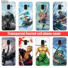 Sheli One Piece Zoro Transparent Hard Case for Samsung Galaxy A3 A5 2017 A6 A7 A9 A8 2018 plus A30 A40 Galaxy Note 9 8(China)