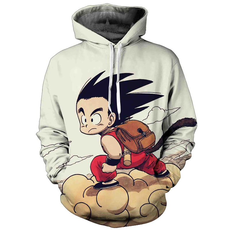 Anime 3D Sweatshirt Hoodies Men Women Dragon Ball Z Son Goku Hooded Sweatshirt Male Pullover Hip Hop Pocket Mens Sweat Homme