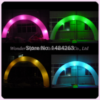 Huge Attractive Mysterious Inflatable Lighting Wedding Decoration Arch With Led For Sale