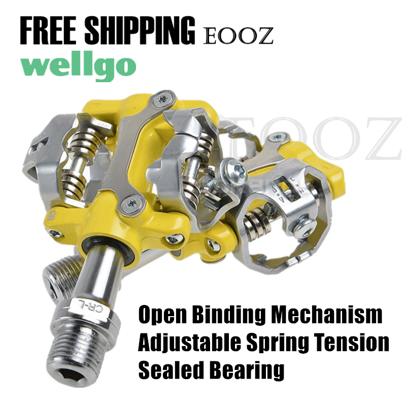 e2fc4ae2de9 WELLGO W01 MTB Touring Bike Bicycle Clipless Light Pedals 9 16 CR-MO Spindle