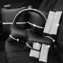 Bling Steering wheel cover Crystal Rhinestone Diamond Car Steering Wheel Covers Car styling Auto Accessories Set series for girl
