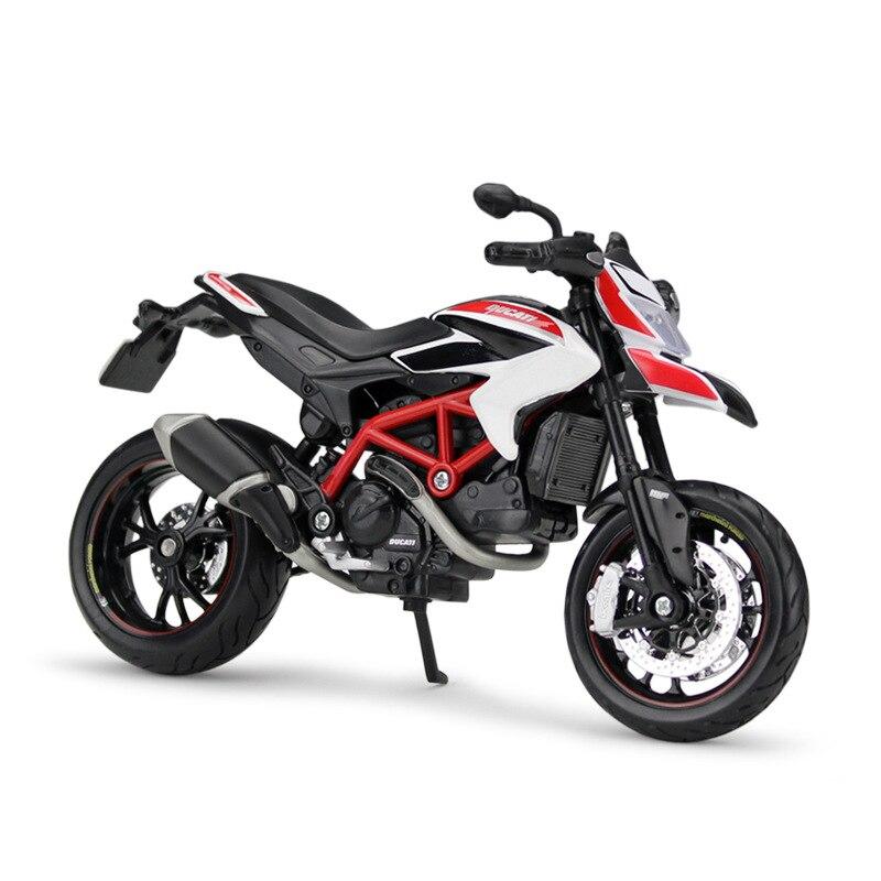 Maisto 1:12 Ducati Hypermotard SP 2013 Diecast Model Motorcycle when tamiya model motorcycle ducati ducati 1199 1 12 panigle s 14129 model buiding kits