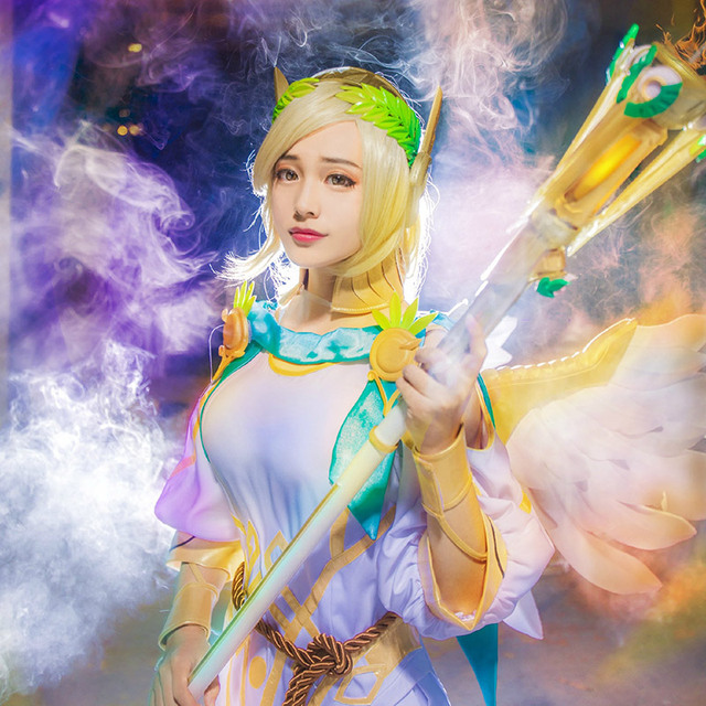 2017 Summer Games Mercy Cosplay Costume Victory Cosplay Angela ...