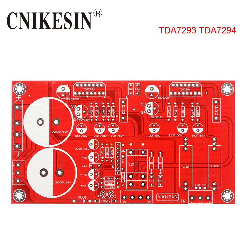 Tda7294 Mono Audio Amp Amplifier Board 8 Ohms 70w Dc 40 45v Diy In Bridge Power Circuit Diagram Electronic Project Cnikesin Tda7293 High Fidelity Fever Bile Flavor Printing Plate Pcb Bare