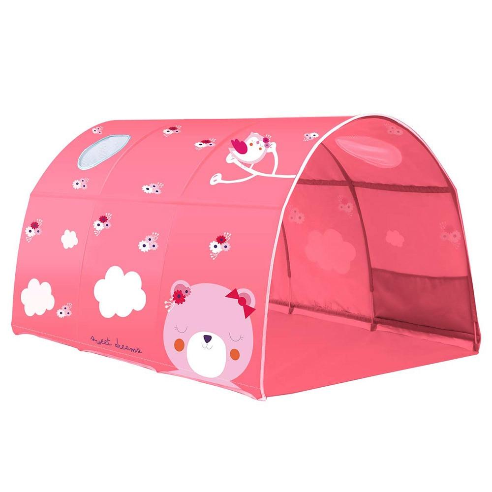 2 couleur bébé jouer jouet tente pour enfants chambre grand espace enfants Wigwam Portable intérieur extérieur toile tipi tente jouet bébé tente lit - 2