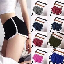Женские повседневные однотонные летние спортивные шорты, тонкие спортивные шорты для тренировок, свободные шорты с эластичной резинкой на талии для йоги