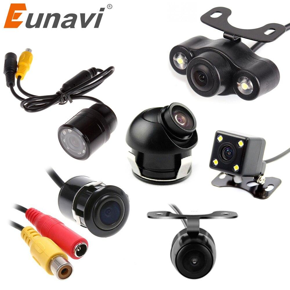 Eunavi car vista trasera auto reversa cámara de visión nocturna CCD impermeable grado amplio HD video