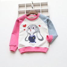 2016 New Baby Boy Girl Clothes Autumn O-neck Patchwork Sweater For Kid Girls Boys The Rabbit Image Long Sleeve Cotton Jacket