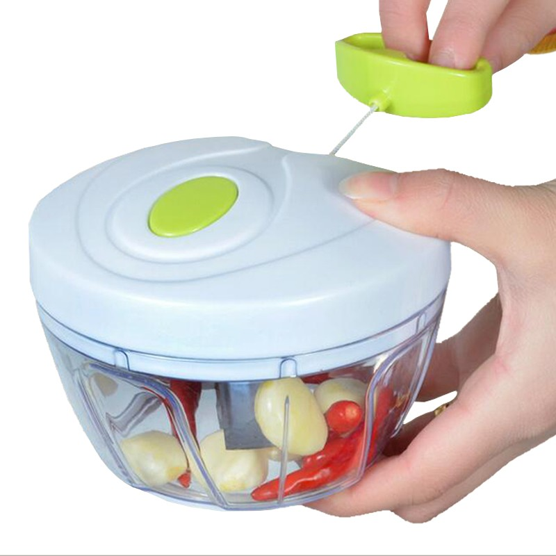 Pull-cord Food Chopper Fruit Vegetable Dicer Garlic Ginger Cutter Kitchen Gadgets Cooking Tools 3