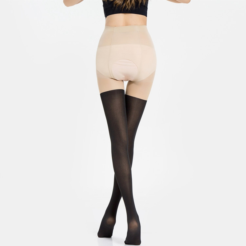 2019 Tights Women Erotic Intimates Open Crotch Pantyhose Nightclubs Sexy Tinted Sheer False High Stocking Pantyhose Slim Tights in Tights from Underwear Sleepwears