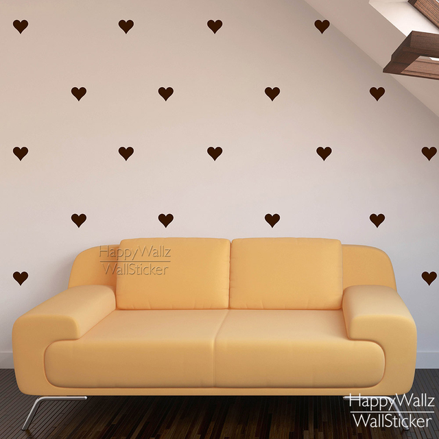 Delightful Heart Wall Sticker Baby Nursery Love Heart Wall Decal Kids Room DIY Easy Wall  Stickers Removable Wall Decoration 547P