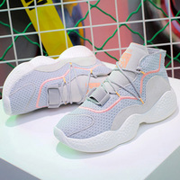 Women Shoes Sneakersing 2019 Net Red Women Shoes Breathable Casual Shoes With Platform Female High Top Sneakersing Women NO.240