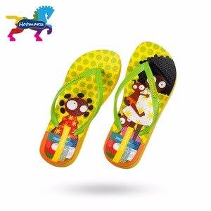 Image 4 - Suojialun dla dzieci klapki japonki Cartoon wzór kolorowe plaży sandały Slip On pantofle