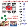 100 Pçs/set Dental Corte Contorno Matrizes Matriz Anel Delta + 40 Pcs Add-On Cunha