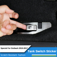 2 Pcs Set Stainless Steel Car Styling LHD Car Tank Switch Decorative Stickers For Subaru Forester