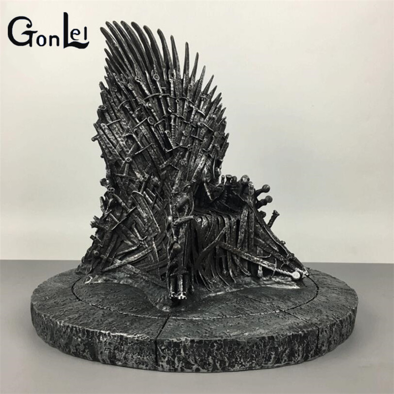 (GonLeI)17cm The Iron Throne Game Of Thrones A Song Of Ice And Fire Figures Action & Toy Figures One Piece Action Figure game of thrones action figure toys sword chair model toy song of ice and fire the iron throne desk christmas gift 17cm