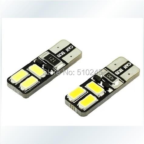 100PCS/LOT wholesale Car Auto LED T10 194 W5W Canbus 6 smd 5630 5730 LED Light Bulb No error led light FREE shipping