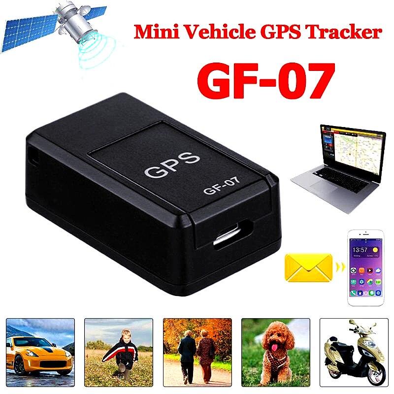 Nouveau GF07 GSM GPRS Mini voiture magnétique GPS Anti-perte enregistrement en temps réel dispositif de suivi localisateur Tracker Support Mini carte TF
