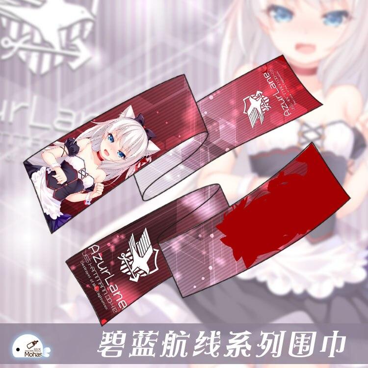 180*25 Cm Anime Navi Da Guerra Gioco Azur Corsia Kaga Akagi Azurlan Illustrious Takao Cute Morbida Microfibra Inverno Sciarpa Lunga 7 Modelli Lieve E Dolce
