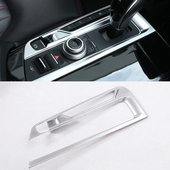 Interior Center Control Gear Shift Panel Decoration Cover Trim For Maserati Levante Chrome ABS Decals Strip Car Styling