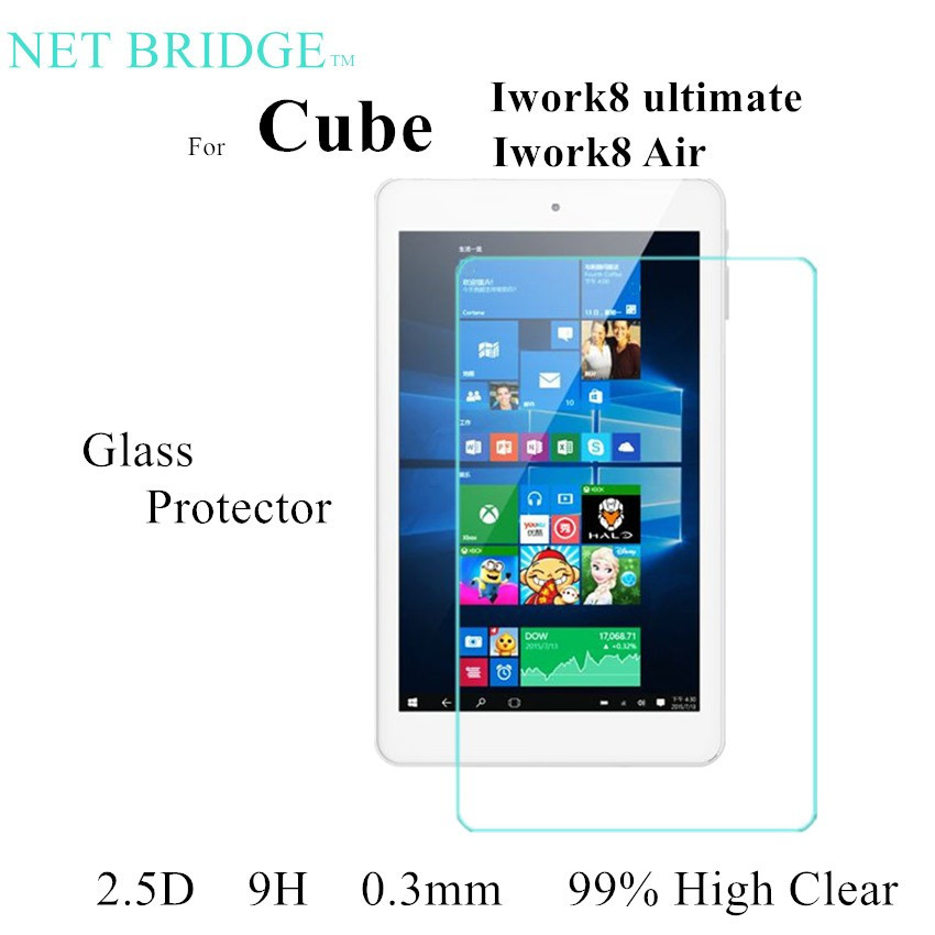 For Iwork 8 Tempered Glass Protect film For Cube iwork8 air glass - Tablet Accessories