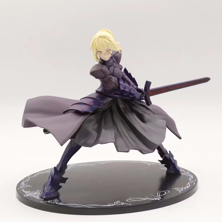 ALEN Fate Stay Night Saber Alter Action Figure 1/8 scale painted figure Fighting Ver. Black Saber PVC figure Toy Brinquedos fate stay night fate extra red saber pvc figure toy anime collection new