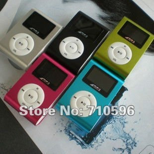 Cheapest 3pc/lot clip MP3 Player with clip screen Five colors support 1G-8G Micro SD(TF )card