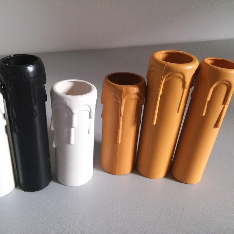 8pcs Plastic E14 Candle Lamp Holder Tube, Candle Lamp Base Sleeve Candle Bulb Base Cover, Chandelier Part Candle Tube