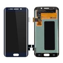 100 PCS/Lot LCD Layar Sentuh Display untuk Samsung Galaxy S6 tepi Disgitizer LCD Lengkap Putih/Emas/Gelap biru