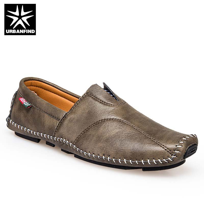 Fashion Men Leather Loafers Driving Shoes Large Size 37-45 Quality Soft Moccasins Male Casual Flat Shoes