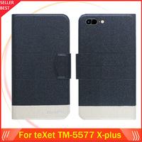5 Colors Factory Direct!! teXet TM-5577 X-plus Case Dedicated Flip Fashion Luxury Leather Protective 100% Special Phone Cover