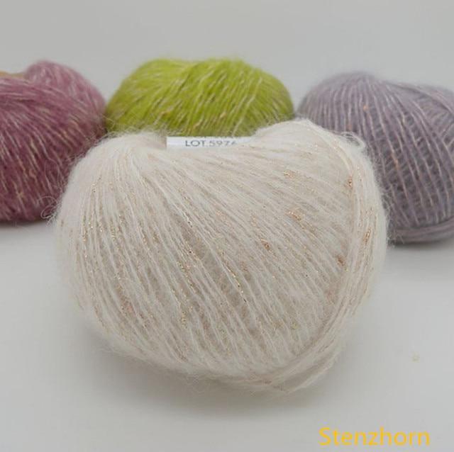 Aliexpresscom 200 Grlos 8 Bälle Garn Für Stricken Mohair Wolle
