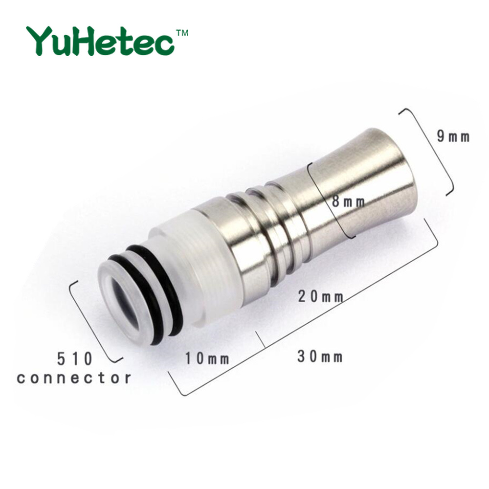 YUHETEC 2pcs 810 510 9 Holes Long Drip Tip Prevent Eliquid From Slopping Mouthpiece For RDA RTA Tank  810