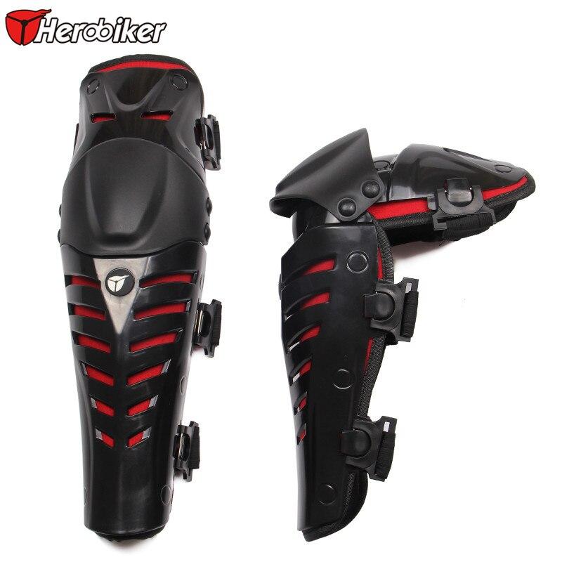 Prix pour HEROBOKER Moto Genou Protecteur Motocross Racing Genouillères Sports et Plein Air Sécurité Protection Genouillères Jambe Genou