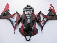 Motorcycle Injection Bodywork Fairing For CBR600RR CBR 600RR F5 2007 2008 CBR 600 RR CBR600 RR 07 08 Fairings Black Red D