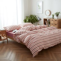 Comfortable 4pcs Bedding Set 100 Cotton 1pc Duvet Cover 1pc Flat Sheet 2pcs Pillow Case King