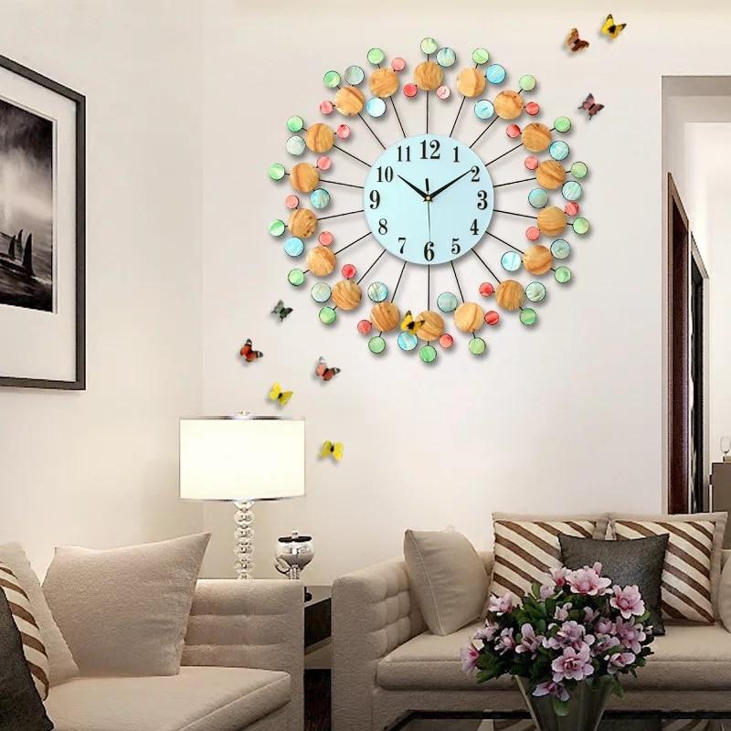 3D Natuurlijke Schelpen Wandklok Grote Decoratieve Woondecoratie ...