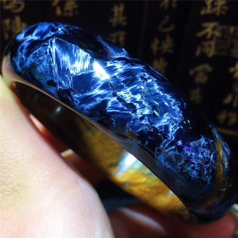 59 6mm Genuine Natural Pietersite Bangle Gemstone Crystal 18 2x8 5mm For Women Men Anniversary Gift