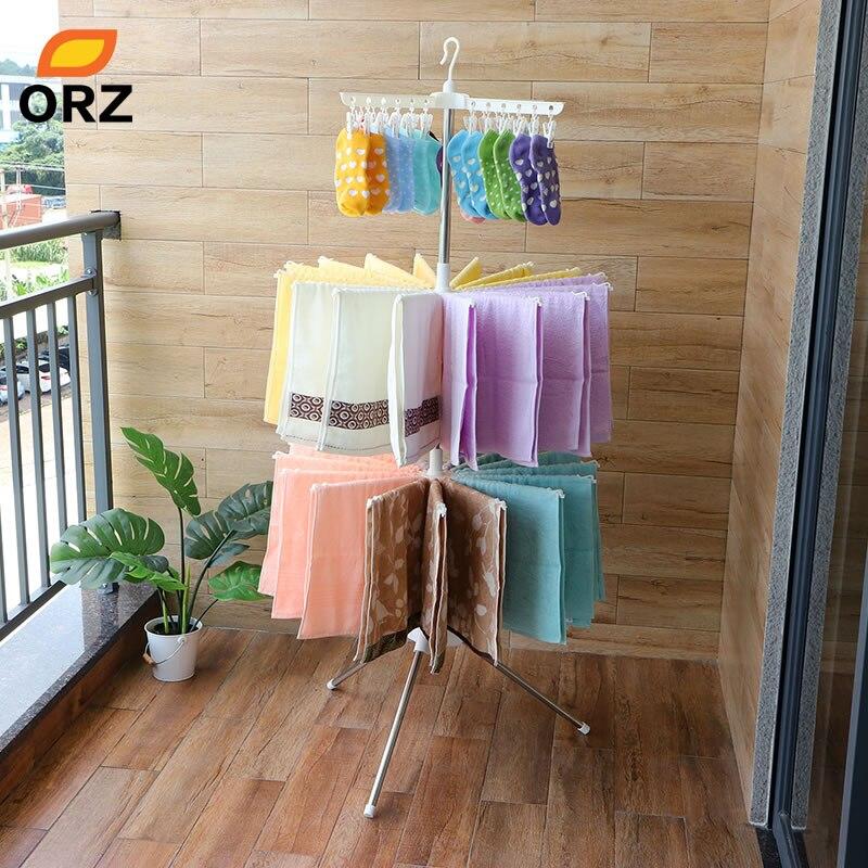 ORZ Vêtements Étendoir Pliant Blanchisserie Cintre 3-Couche Vêtements Organisateur Pour Vêtement Pantalon Serviette Underware Stockage De Support De Support
