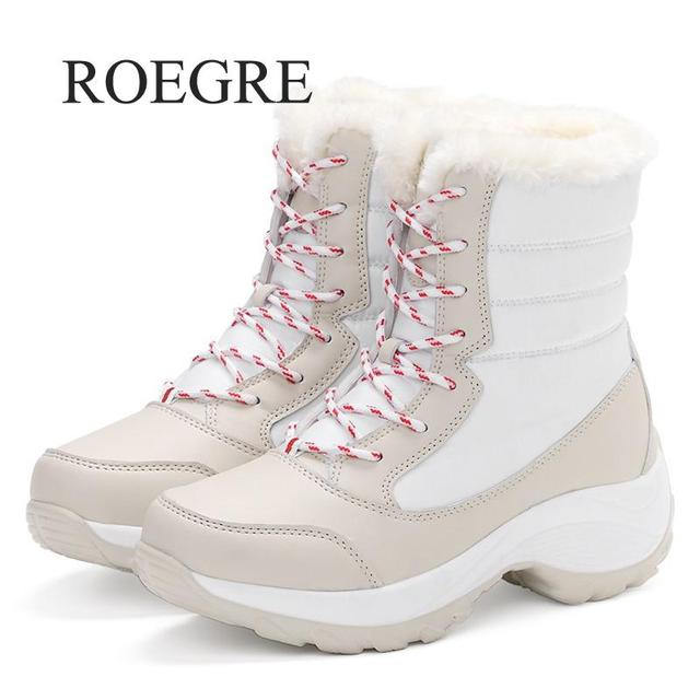 Women boots non-slip waterproof winter ankle snow boots women platform winter shoes with thick fur botas mujer 2