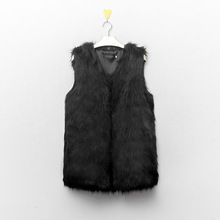Fashion Women Winter Coat Faux Fake Fur Vests Sleeveless Fur Outerwear Slim V-Neck Warm Vest Jacket Coat Plus Size S-XXXL