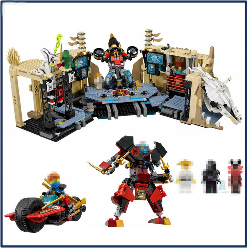 1351Pcs Ninja Figure Samurai X Cave Chaos Toys Building Blocks for Children Ninja 70596 compatible with lego ninjagoes 70596 06039 blocks ninjago figure samurai x cave chaos toys for children building blocks