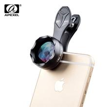 APEXEL 18X Makro Lens Profesyonel Süper Makro Cep Telefonu Kamera Lensler iPhone Samsung Xiaomi HTC için Evrensel Klip ile