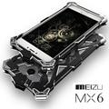 Novo caso de telefone para o caso meizu mx6 ultrafinos 360 graus de proteção armadura telefone bag caso tampa de metal para meizu mx6